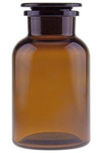 Apothekerflasche mit Glasstopfen 1000 ml braun