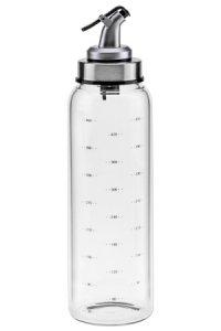 Glasflasche 500 ml mit Skala und Ausgießer