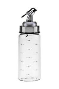 Glasflasche 200 ml mit Skala und Ausgießer