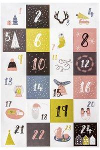 Deko-Sticker Adventskalenderzahlen Motive, 24 Stück