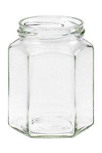 Sechseckglas 288 ml