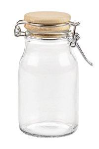 Bügelglas  165 ml mit Holzdeckel