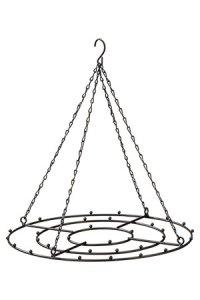 Deko-Metallgestell zum Anhängen, schwarz, Ø 33 cm