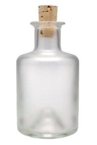 Apothekerflasche  200 ml satiniert