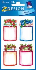 Schmucketiketten Obstgläser