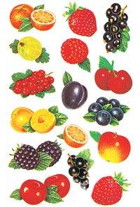 Schmucketiketten Obst-Variation