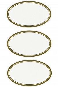 Schmucketiketten Ovale mit goldenem Rahmen