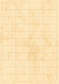 Etiketten 48,5 x 25,4 mm beige marmoriert - 5 Blatt A4