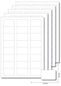 Etiketten 53 x 34 mm weiß - 5 Blatt A4