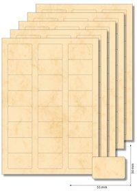 Etiketten 53 x 34 mm beige marmoriert - 5 Blatt A4