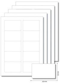 Etiketten 82 x 52 mm weiß - 5 Blatt A4
