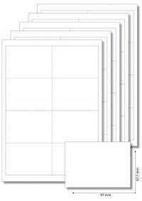 Etiketten 97 x 67,7 mm weiß - 5 Blatt A4