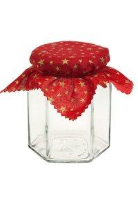 Deckchen 120 mm rot mit goldenen Sternen