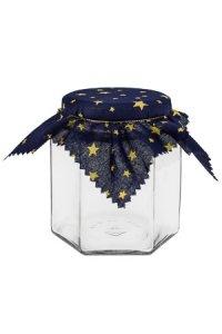 Deckchen 150 mm blau mit goldenen Sternen