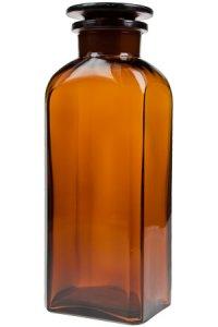 Apothekerglas  750 ml braun vierkant