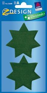 Geld- und Geschenksäckchen Stern grün
