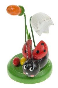 Holz-Figur zum Aufkleben Käfer mit Blume