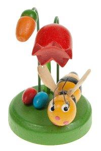 Holz-Figur zum Aufkleben Biene mit Blume
