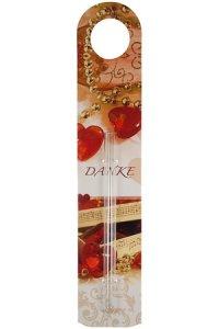 Flaschenanhänger mit Vase Danke