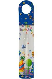 Flaschenanhänger mit Vase happy birthday