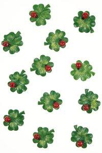 Miniaturen zum Aufkleben Glücksklee - 12er Pack