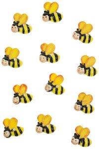 Miniaturen zum Aufkleben Bienchen - 12er Pack