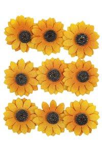 Filz-Sticker Sonnenblume 9er-Set