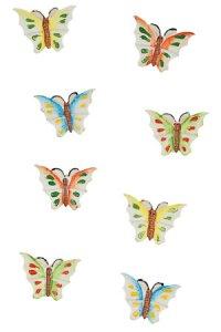 Miniaturen zum Aufkleben Schmetterling - 8er Set