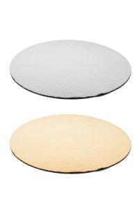 Pappscheibe gold/silber 160 mm