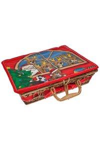 Weihnachtskorb   klein Rentiere und Weihnachtsmann