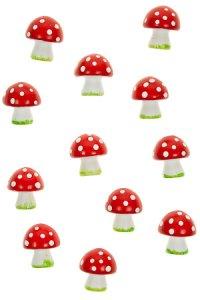 Miniaturen zum Aufkleben Glückspilz - 12er Pack