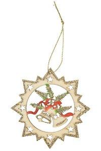 Weihnachtsanhänger Glocken beglimmert
