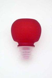 Glasstopfen 19 mm rot mattiert