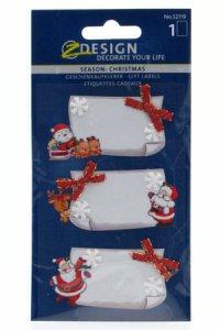 Weihnachtsetiketten mit Schleifchen