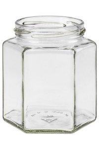 Sechseckglas 390 ml