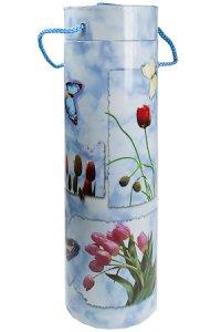Flaschenbox Tulpen und Schmetterlinge