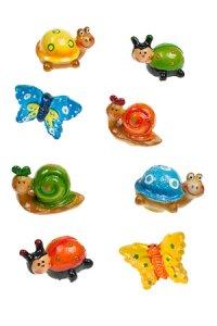 Miniaturen zum Aufkleben Tiere - 8er Set