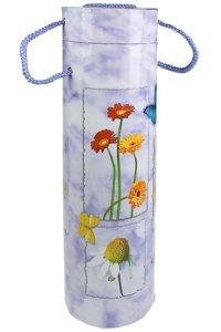 Flaschenbox Blumen und Schmetterlinge