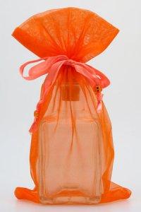 Organzatasche orange, 13 x 23 cm