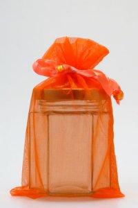 Organzatasche orange, 11 x 18 cm