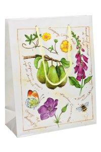 Geschenktasche Birnen und Blüten
