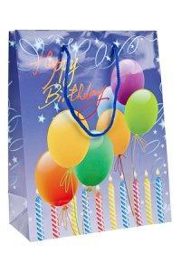 Geschenktasche Happy Birthday blau
