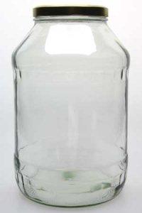 Rundglas 4250 ml mit Facetten