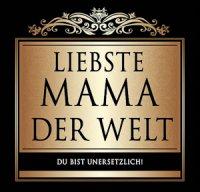 Flaschen-Etikett Liebste Mama der Welt klassisch-elegant