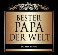 Flaschen-Etikett Bester Papa der Welt klassisch-elegant