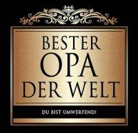 Flaschen-Etikett Bester Opa der Welt klassisch-elegant