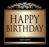 Flaschen-Etikett Happy Birthday klassisch-elegant