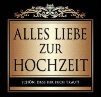 Flaschen-Etikett Alles Liebe zur Hochzeit klassisch-eleg.