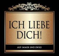 Flaschen-Etikett Ich liebe Dich! klassisch-elegant