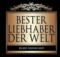 Flaschen-Etikett Bester Liebhaber der Welt klassisch-eleg.